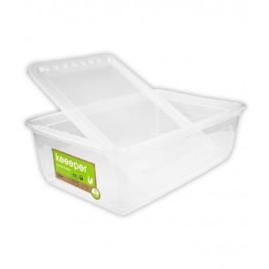 Plastový box Basixx 30l, priehľadný, 59x39x18 cm