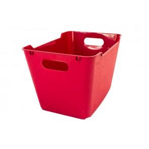 Plastový box LOFT 1,8 l, tmavo červený, 19,5x14x10 cm POSLEDNÝCH 6 KS