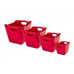 Plastový box LOFT 6 l, tmavo červený, 29,5x19x15 cm - POSLEDNÝCH 20 KS