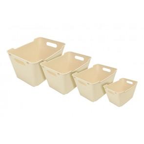 Plastový box LOFT 6 l, krémový, 29,5x19x15 cm POSLEDNÝCH 24 KS