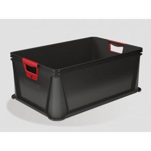 Plastový box Eurobox 45 l, grafit, 59x39x23,5 cm