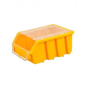 Box na drobný materiál s vekom, malý, žltý, 16x11,6x7,5 cm
