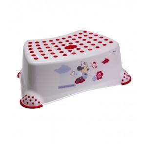 Detský taburet v bielej farbe s motívom Minnie - 40x28x14 cm - POSLEDNÝCH 12 KS