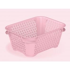 Plastový košík Mirko, A7, ružový, 16x12x7 cm - POSLEDNÝCH 26 KS