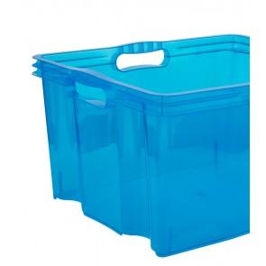 Plastový box Multi XL, svieža modrý, bez veka, 43x35x23 cm