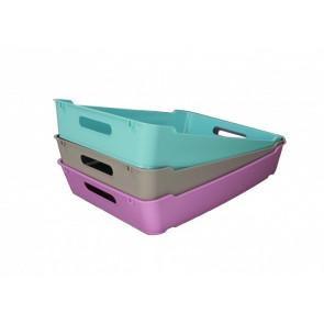 Plastový box LOFT A5, svetlomodrá, 28x22x6,5 cm - POSLEDNÝCH 5 KS