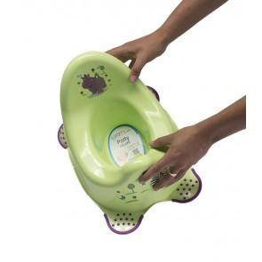 Detský nočník v zelenom prevedení s motívom Hippo - 38x27x24 cm