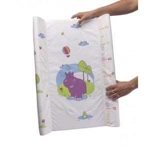 Detská prebaľovacia podložka Hippo v bielej farbe s metrom - 70x50x10 cm