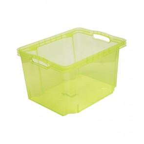 Plastový box Multi M, svieža zelený, bez veka, 35x27x21 cm