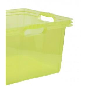 Plastový box Multi XL, svieža zelený, bez veka, 43x35x23 cm